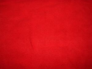 Effen warmrode dikke, niet-pillende fleecestof Kleurnr.: EF Warmrood - kleur in het echt is ietsje donkerder