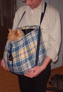 Kangeroezak, ideaal om uw kat of hond in mee te nemen!  (Euro 75,00)